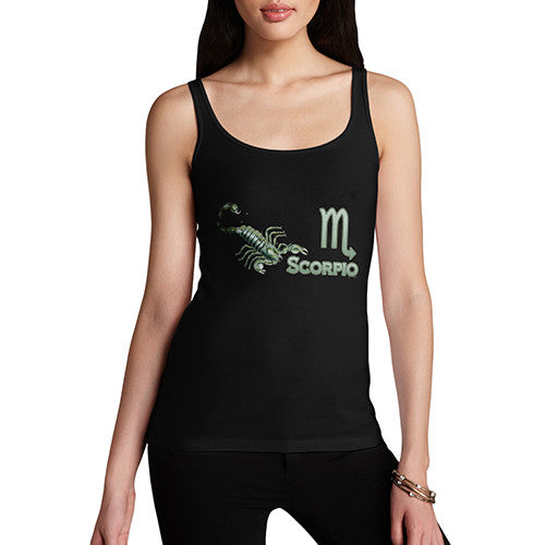 Women's Scorpio Zodiac Astrological Sign Tank Top