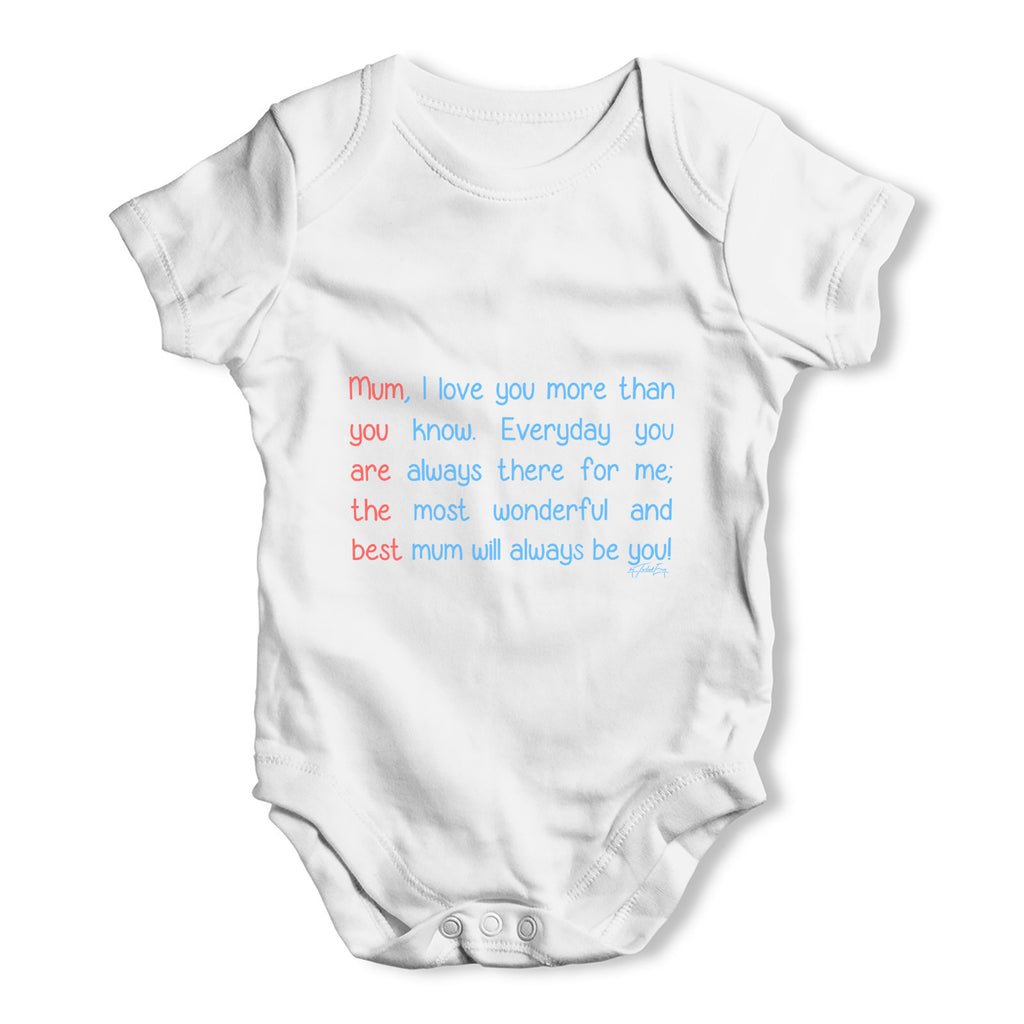 f681756cc Best Mum Poem Baby Grow Bodysuit – Twisted Envy