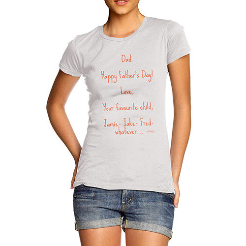 Women's Happy Father's Day T-Shirt