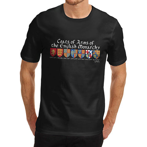 Men's English Monarchy Coat Of Arms T-Shirt