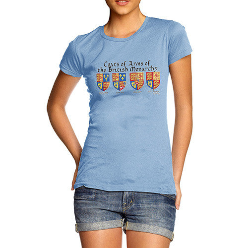 Women's British Monarchy Coats Of Arms T-Shirt