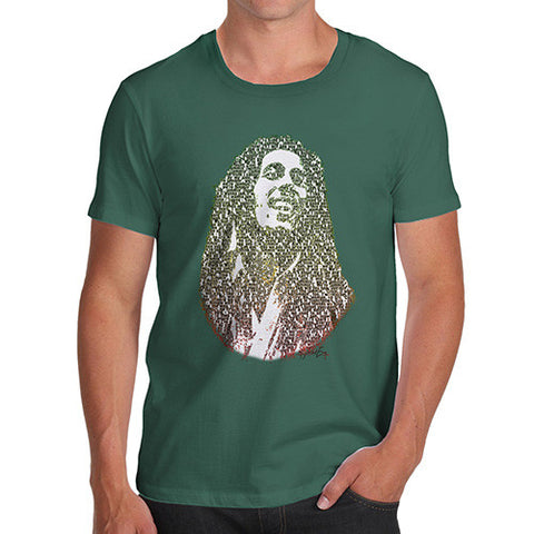 Men's Modern Art Typography Bob Marley T-Shirt