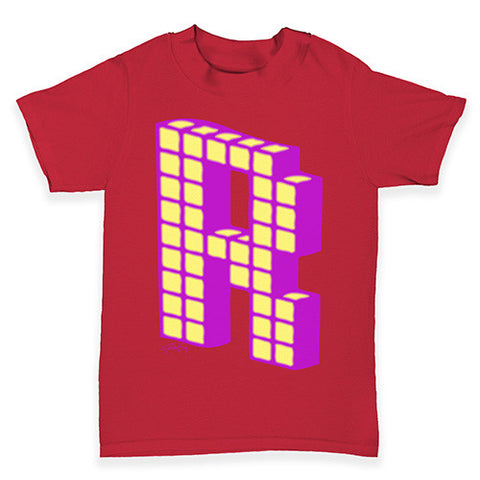 Block Alphabet Letter R Baby Toddler T-Shirt