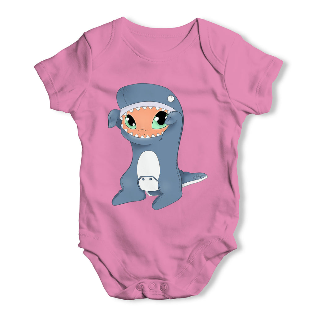 Snap in Whale Costume Baby Grow Bodysuit
