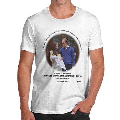 Men's HRH Royal Baby Princess Charlotte Commemorative T-Shirt