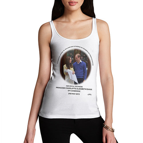 Women's HRH Royal Baby Princess Charlotte Commemorative Tank Top