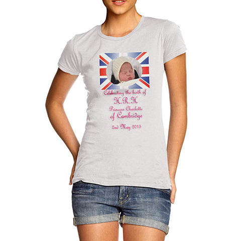 Women's Royal Baby Princess Charlotte First Photo T-Shirt