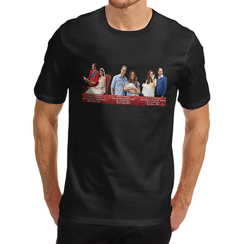 Men's Kate And William Royal Timeline T-Shirt