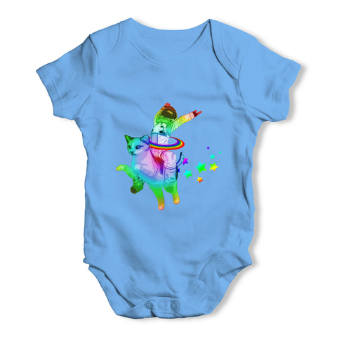 Space Cat Ride Baby Grow Bodysuit
