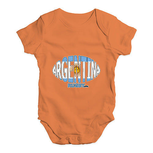 Baby Boy Clothes Argentina Rugby Ball Flag Baby Unisex Baby Grow Bodysuit 6-12 Months Orange