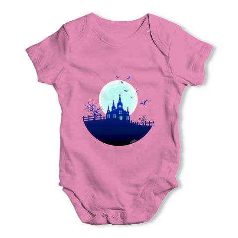 Haunted Mansion On the Hill Baby Grow Bodysuit