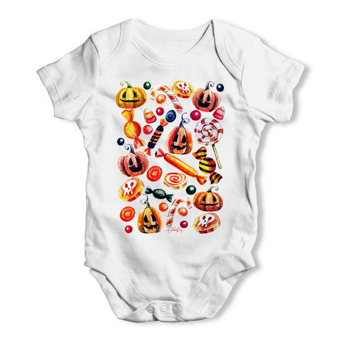 Trick Or Treat Candy Baby Grow Bodysuit