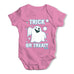 Trick or Treat Spooky Ghost Baby Grow Bodysuit