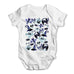 Halloween Cats Witches Skulls Baby Grow Bodysuit