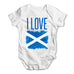 I Love Scotland Baby Grow Bodysuit