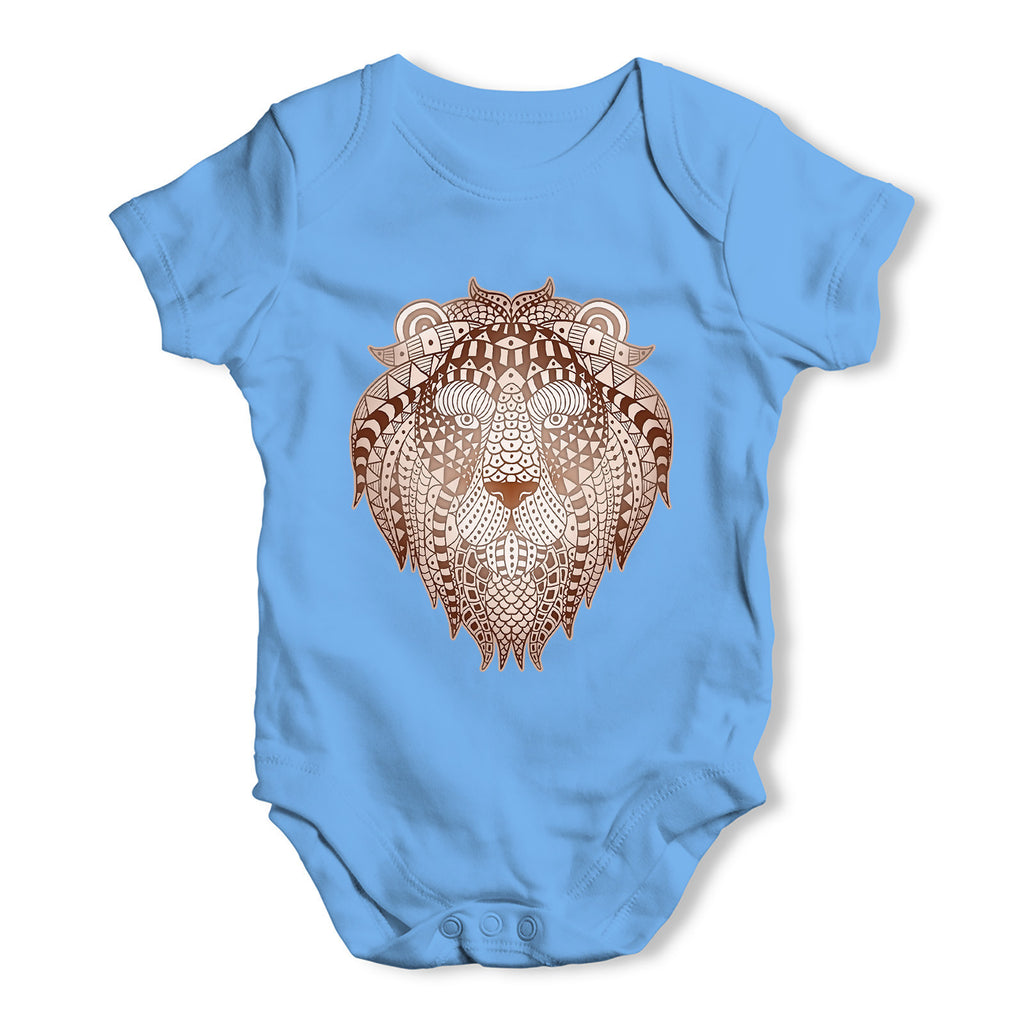 Tribal Lion Head Baby Grow Bodysuit