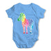 Rainbow Zebra Baby Grow Bodysuit