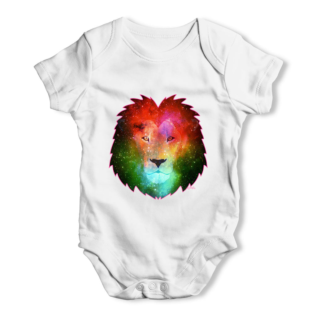 Galaxy Lion Head Baby Grow Bodysuit