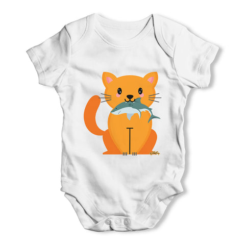 Cartoon Cat Shark Baby Grow Bodysuit