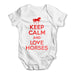 Keep Calm And Love Horses Baby Grow Bodysuit