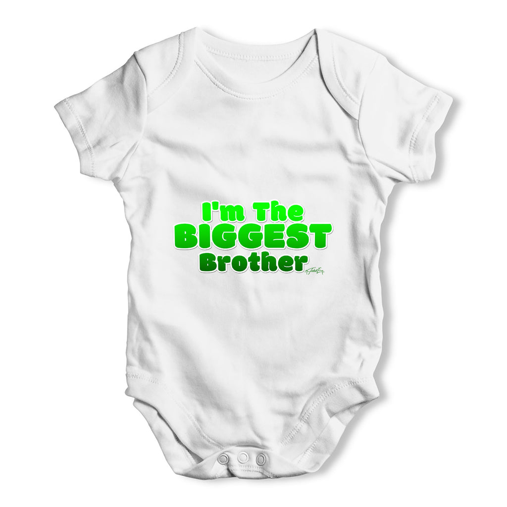 I'm The Biggest Brother Baby Grow Bodysuit