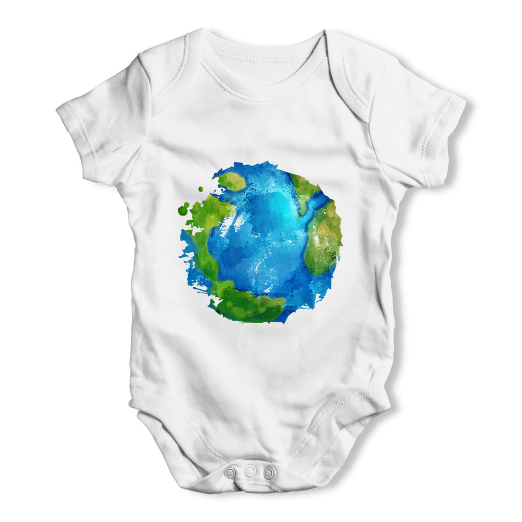 Global Warming Melting Earth Baby Grow Bodysuit