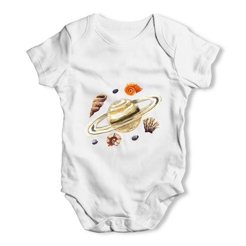 Saturn Seashells Baby Grow Bodysuit