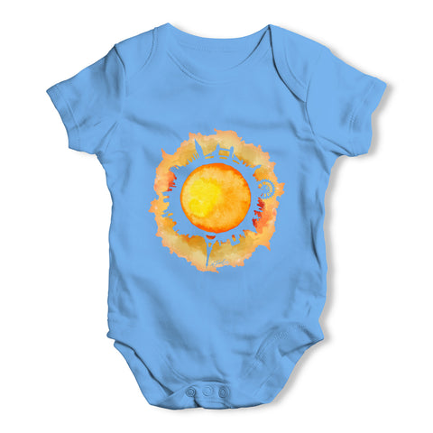 Solar Flare City Baby Grow Bodysuit