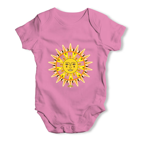 Ornate Sun Face Baby Grow Bodysuit