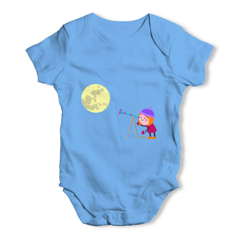 Secretly Spying on the Moon Baby Grow Bodysuit