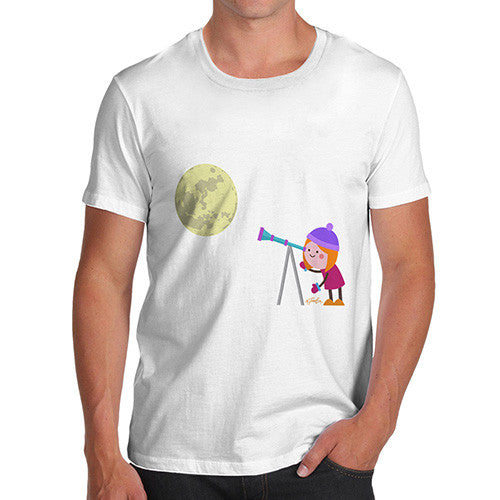 Men's Secretly Spying on the Moon T-Shirt