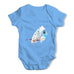 Watercolour Pixel Common Blue Butterfly Baby Grow Bodysuit