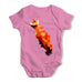 Watercolour Pixel Red Squirrel Baby Grow Bodysuit