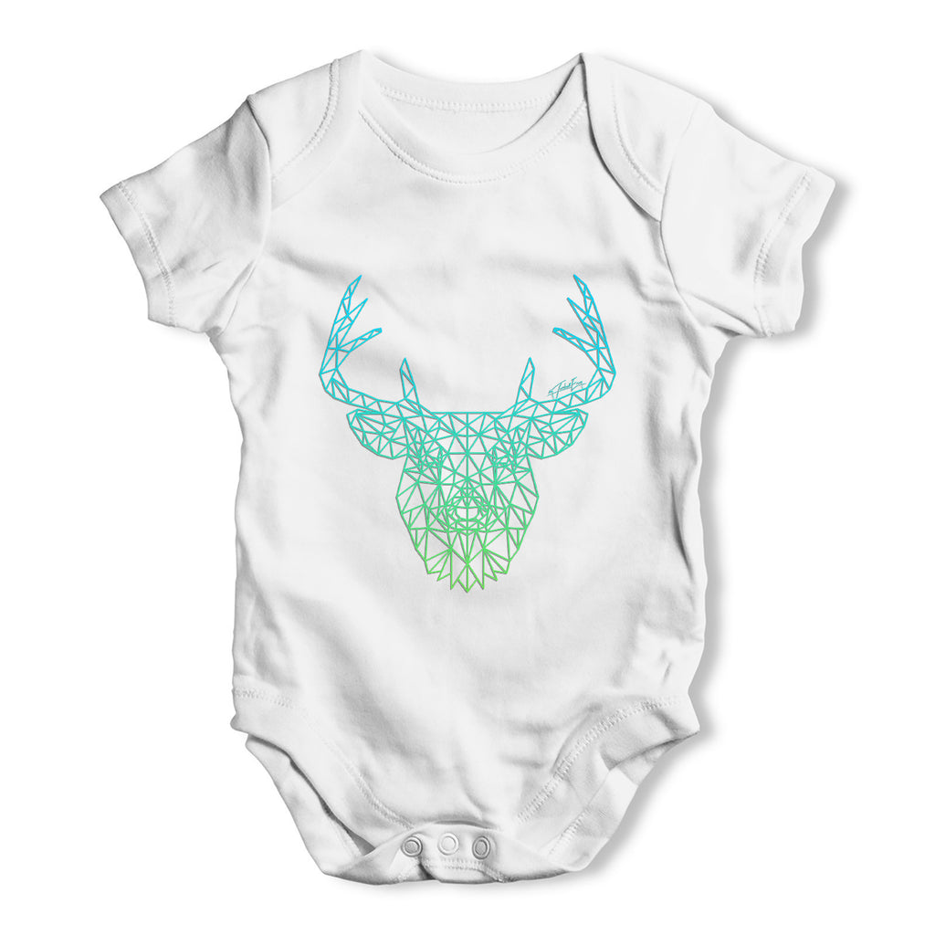 Geometric Stag Baby Grow Bodysuit