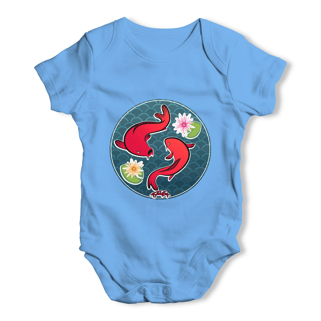 Decorative Red Fish Baby Grow Bodysuit
