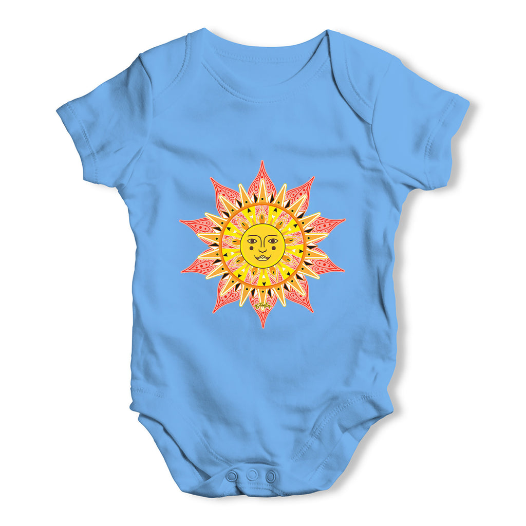 Decorative Mandala Sun Baby Grow Bodysuit