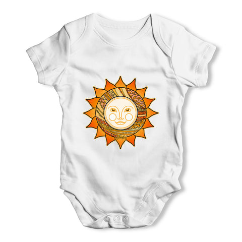 Decorative Smiling Sun Baby Grow Bodysuit