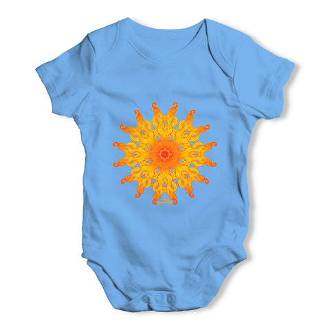 Decorative Patterned Sun Baby Grow Bodysuit