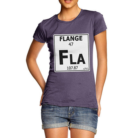 Women's Periodic Table Of Swearing Flange T-Shirt