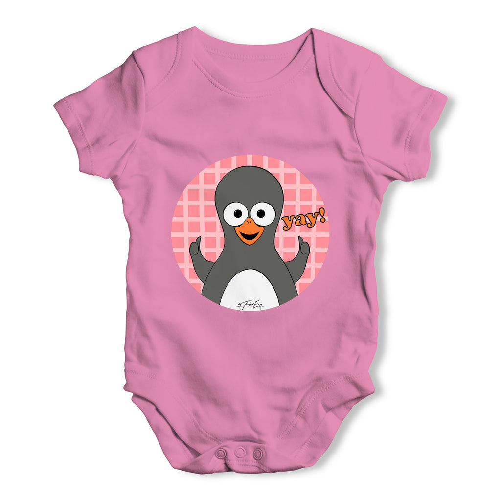 Guin The Penguin Yay Emoticon Baby Grow Bodysuit