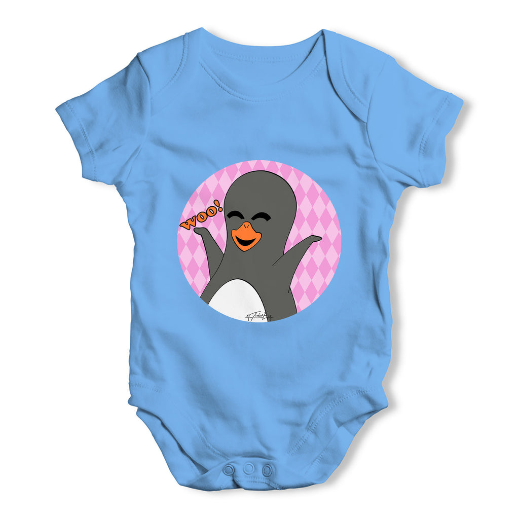 Guin The Penguin Woo Emoticon Baby Grow Bodysuit