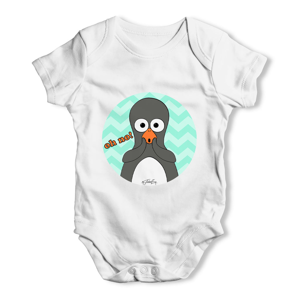 Guin The Penguin Oh No Emoticon Baby Grow Bodysuit