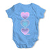 Purple Tie Dye Hearts Baby Grow Bodysuit