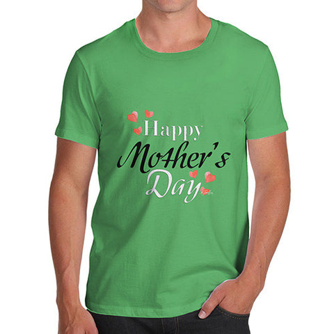Men's Happy Mother's Day Hearts T-Shirt