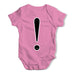 Alphabet Monogram ! Exclamation Mark Baby Grow Bodysuit
