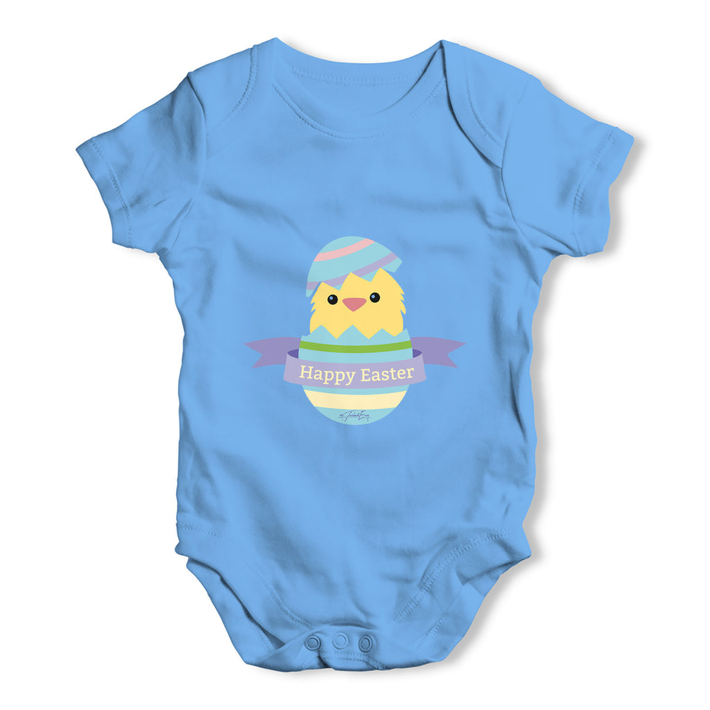Happy Easter Chick Hatching Baby Grow Bodysuit