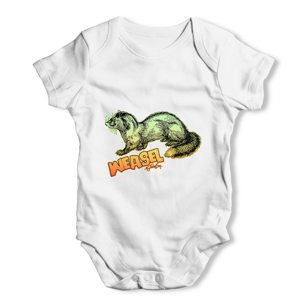 Weasel Baby Grow Bodysuit
