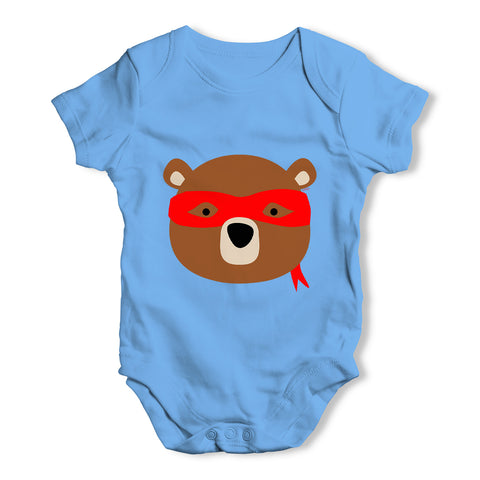 Ninja Bear Baby Grow Bodysuit