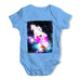 Cat Riding Unicorn In Space Baby Grow Bodysuit