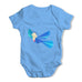 Colourful Origami Bird Baby Grow Bodysuit